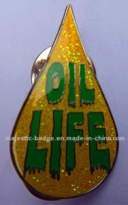 Plating Silver Glitter Enamel Pin (Hz 1001 P060) pictures & photos