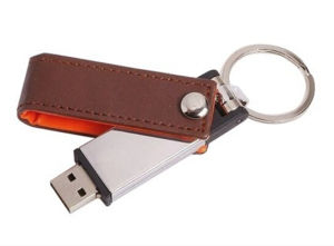 Promotional Gift High Quality Swivel Leather USB Flash Drives pictures & photos