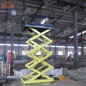 Warehouse Cargo Stationary Scissor Lift pictures & photos