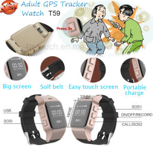 2g Anti Lost Adult GPS Tracker Watch with Sos Boutton T59 pictures & photos