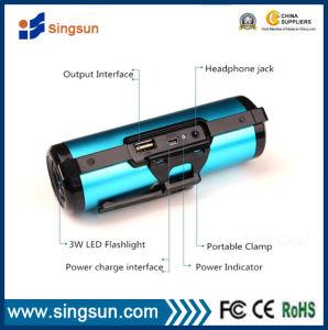 Hot Sale Bicycle Solar Speaker with Power Bank, FM Radio, Flashlight