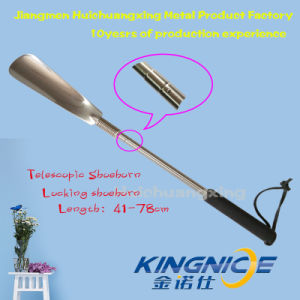New Design High Quality Comfotable Stainless Steel Shoe Shoehorn Locking Shoehorn Enlarged Size pictures & photos