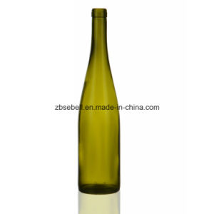 Rhine Glass Bottle, Bvs Top, Cork Top Glass Wine Bottle pictures & photos