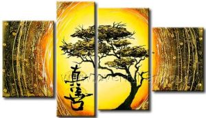 Handmade Modern Trees Landscape Oil Painting on Canvas (LA4-059) pictures & photos