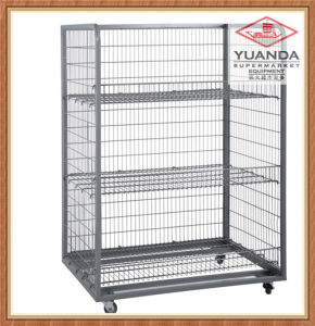 Warehouse Wire Mesh Container with Wheels pictures & photos