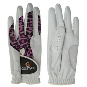Ladies′ PU Golf Glove with Lycra (PGL-66) pictures & photos