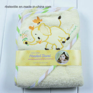 Animal Designs of Cotton Baby Hooded Bath Towel Poncho pictures & photos