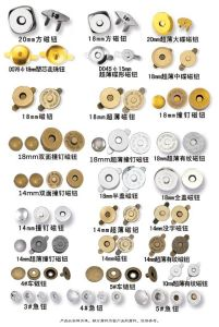Magnetic Bag Clasps/Snap Fasteners/Magnetic Lock Button pictures & photos
