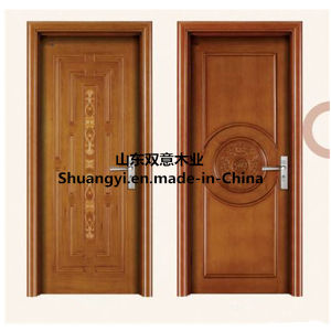 White Colour Classical Design Solid Wooden Door pictures & photos
