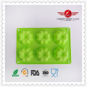 Flower Shape Silicone Chocolate Baking Mould pictures & photos