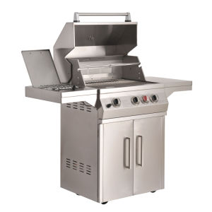 S/S Gas Grill Side Burner 3-Burner BBQ pictures & photos