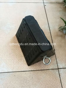 Heavy Duty Solid Rubber Truck Wheel Chocks pictures & photos