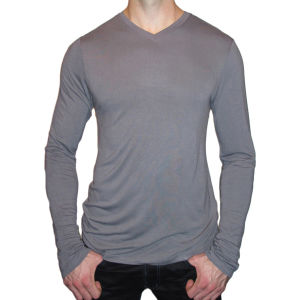 High Quality Men Plain Blank Bamboo T Shirts Wholesale pictures & photos