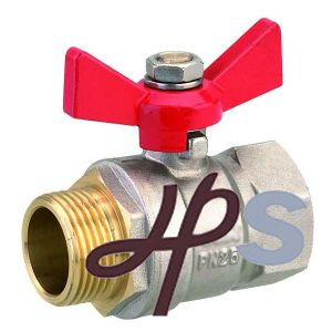 Brass Ball Valve F/M, with Butterfly Handle pictures & photos