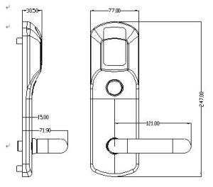 Chrome Zinc Alloy Electric Door Lock RF Card Hotel Smart Door Lock pictures & photos