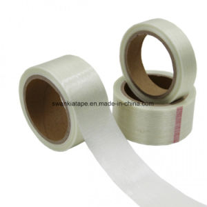 Synthetic Rubber Economy Filament Reinforced Strapping Tape with Polypropylene Backing/Fiberglass Adhesive Tape pictures & photos
