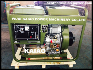 Military Olive Grab Green Diesel Generator Open Frame 6KW Hot Sale pictures & photos