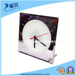 Glass Photoframe Sublimation Clock with Poniter pictures & photos
