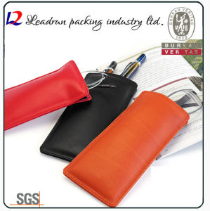 Eyeglass Leather Pouch Sunglasses Case (X09) pictures & photos