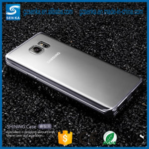 Metal Plating Side Transparent TPU Case for Samsung Note 5 pictures & photos