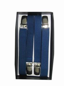 Tailor Smith Navy Blue Formal Classical Men′s Elastic Suspender Elegant Solid Style pictures & photos