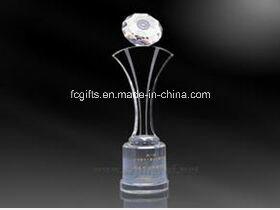 Transparent Crystal Trophy for Sport Activity (JB-1017)