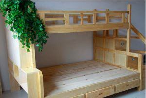 Hot Selling Solid Wood Bunk Bed with Ladder Ark (M-X1110) pictures & photos