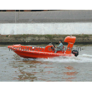 Hot Sale 6.18m Marine Rescue Boat for Rescuing, Fiberglass Lifeboat pictures & photos