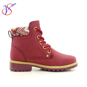 2016 New Style Injection Women Work Boots Shoes for Job (SVWK-1609-019 WINE) pictures & photos