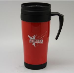 14oz Food Grade Plastic Thermos Auto Coffee Cup with Handle pictures & photos