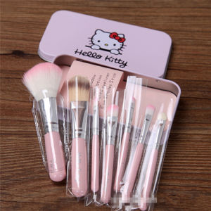 Hello Kitty Pink Color Lovely 7 PCS Cosmetic Brush Best Makeup Brush Set pictures & photos