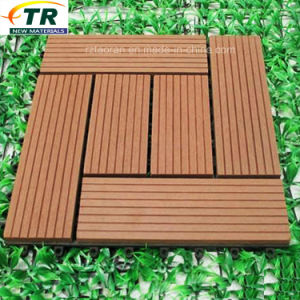 Easy Installed Interlocking WPC Decking Flooring DIY Tiles