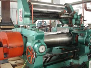 Two-Roll Open Rubber Mixing Mill with Stock Blender pictures & photos