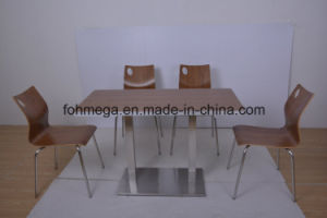 Food Court Market Ss Leg Cafe Table with Chairs (FOH-NCP15-8) pictures & photos