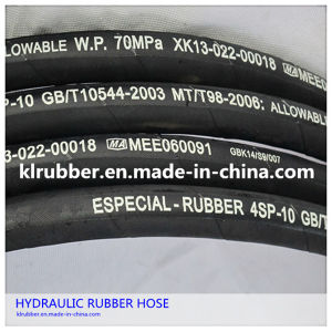 SAE100 Stainless Steel Reinforcement Hydraulic Rubber Hose pictures & photos