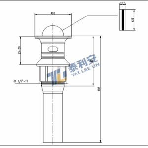 Economy Stainless Steel Rotating Wash Sink Waste, Rotate to Open (T1071) pictures & photos