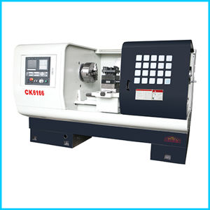 Siemens Big Spindle Bore Flat Bed CNC Lathe Machine for Sale Ck6166