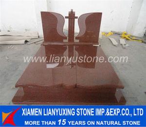 Custom Design India Red Granite Poland Tombstone for Cemetery