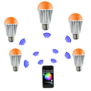 2014 New 7W RGB/Warm White LED Bulb Bluteeth Version pictures & photos