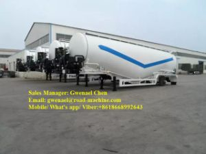 Dry Cement Powder Truck Trailer with Air Compressor 3 Axles Bulk Feed Silo Semi Trailer