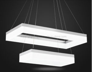 Rectangular Pendant Light, Double Layer LED Pendant Lamp