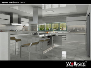 Welbom Silvery Two Pack High Gloss Big Kitchen Designs pictures & photos