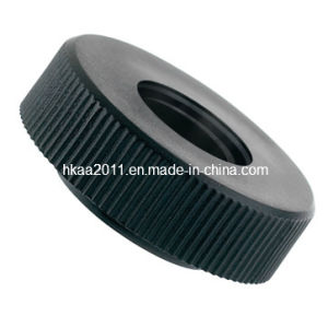 Nonstandard Black Aluminum Anodized Straight Knurled Nut Thumb Screw Knobs pictures & photos