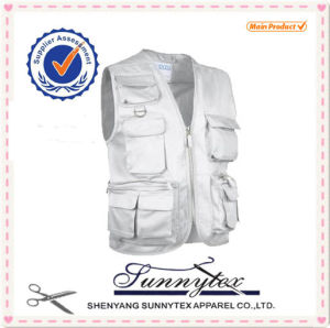 Man Sleeveless Cheap Safety Work Vest pictures & photos