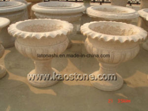 Natural G682 Yellow Granite Flower Stand Pot for Indoor & Outdoor pictures & photos