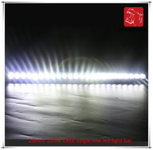 LED Car Light of 29inch 120W CREE Single Row LED Light Bar Waterproof for SUV Car LED off Road Light and LED Driving Light pictures & photos