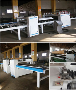 Double Side MDF Panel PU Paper Laminating Machine for Panel Furniture pictures & photos