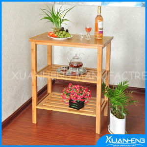 3 Tiers Bamboo Display Shelf for Storage pictures & photos