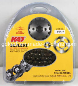 Motorcycle Spare Parts Cg125 Chain Kit Motorcycle Part pictures & photos