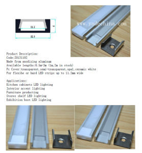Aluminum Extrusion LED Profiles for LED Strips pictures & photos